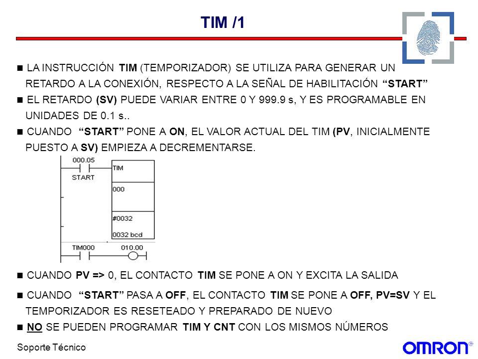 TIM /1 LA INSTRUCCIÓN TIM (TEMPORIZADOR) SE UTILIZA PARA GENERAR UN