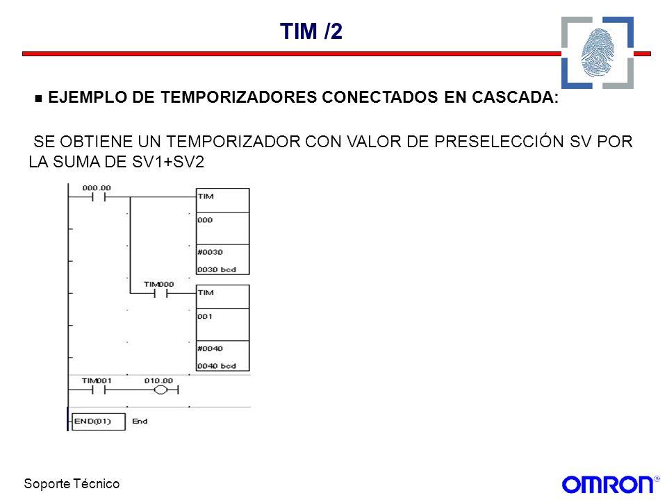 TIM /2 EJEMPLO DE TEMPORIZADORES CONECTADOS EN CASCADA: