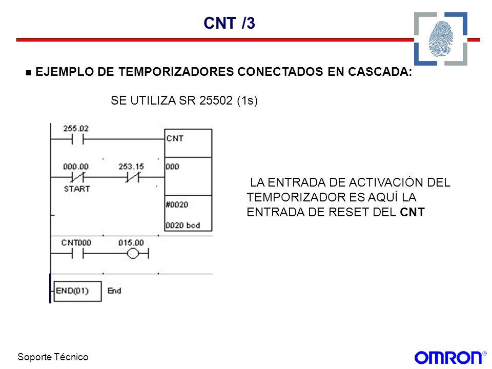 CNT /3 EJEMPLO DE TEMPORIZADORES CONECTADOS EN CASCADA: