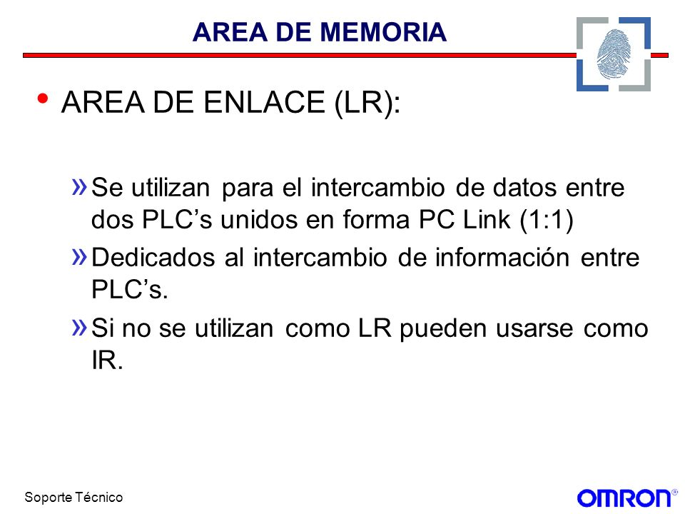 AREA DE ENLACE (LR): AREA DE MEMORIA