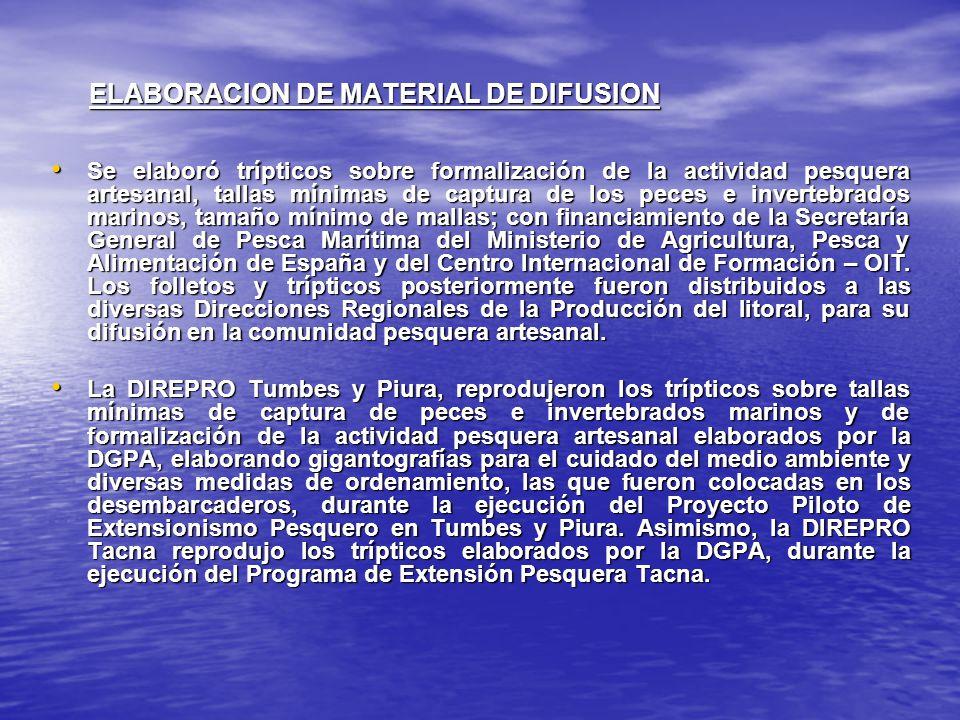 ELABORACION DE MATERIAL DE DIFUSION