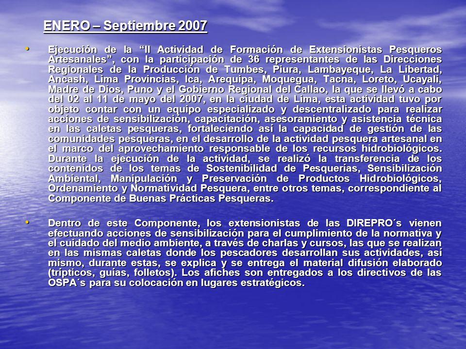 ENERO – Septiembre 2007