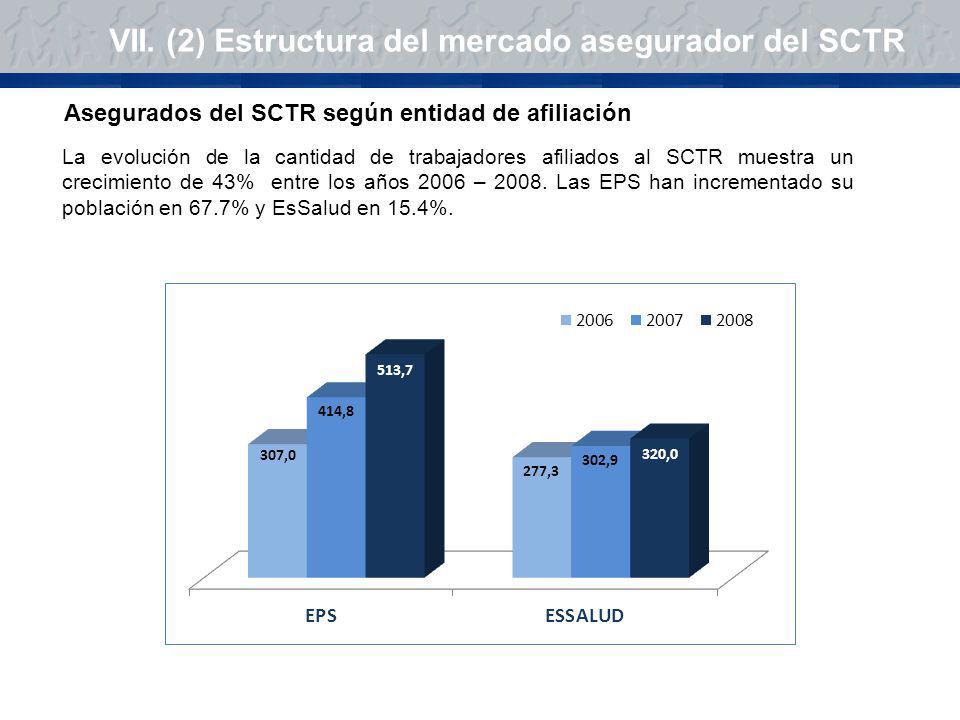 VII. (2) Estructura del mercado asegurador del SCTR