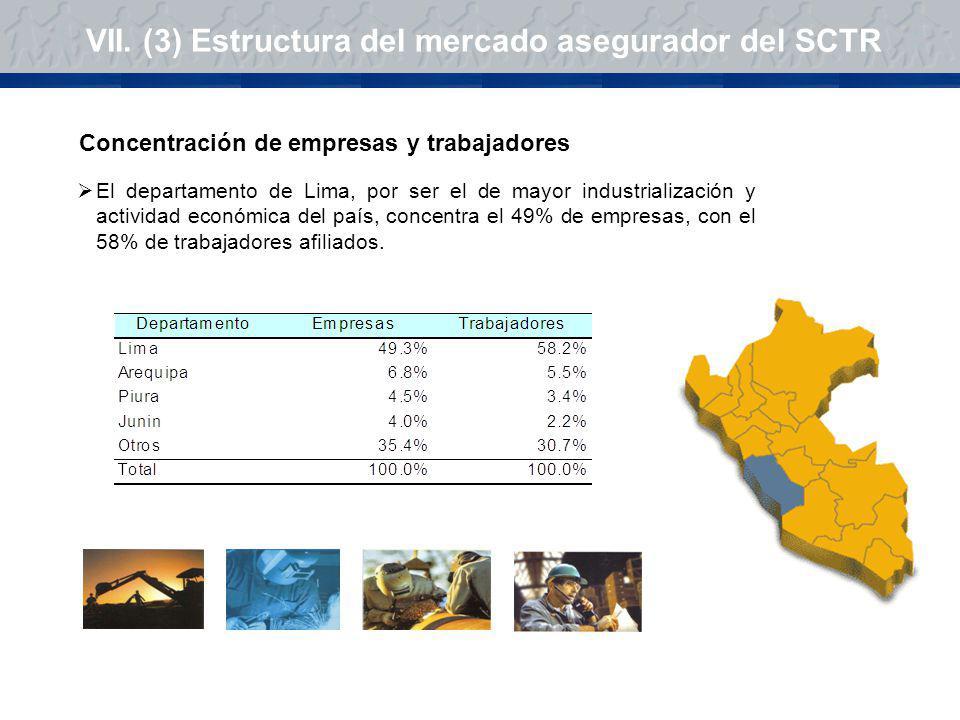 VII. (3) Estructura del mercado asegurador del SCTR
