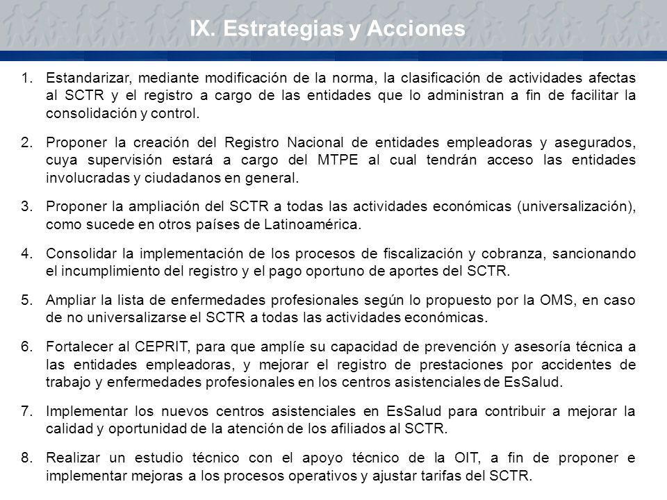 IX. Estrategias y Acciones