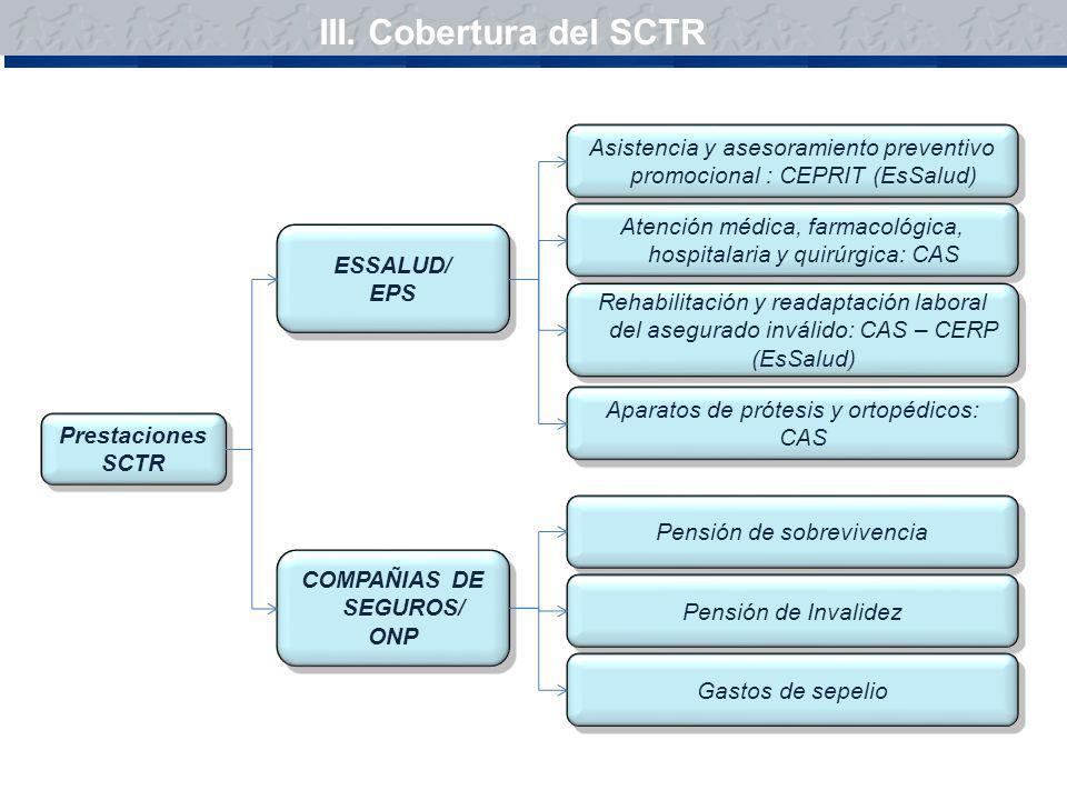III. Cobertura del SCTR Asistencia y asesoramiento preventivo promocional : CEPRIT (EsSalud)