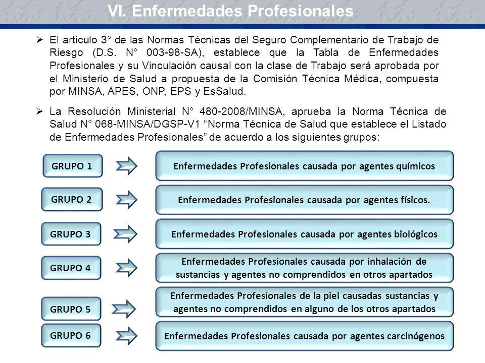 VI. Enfermedades Profesionales