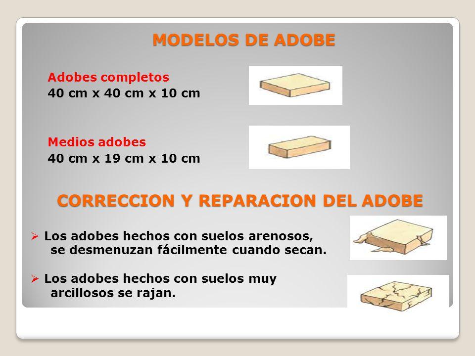 CORRECCION Y REPARACION DEL ADOBE