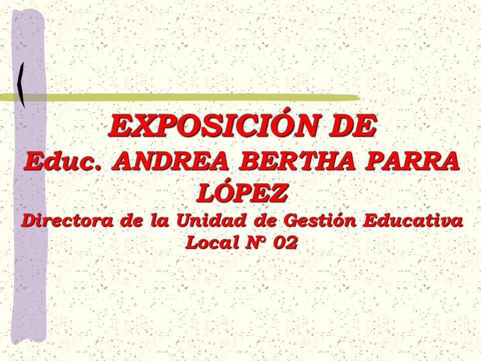 Educ. ANDREA BERTHA PARRA LÓPEZ