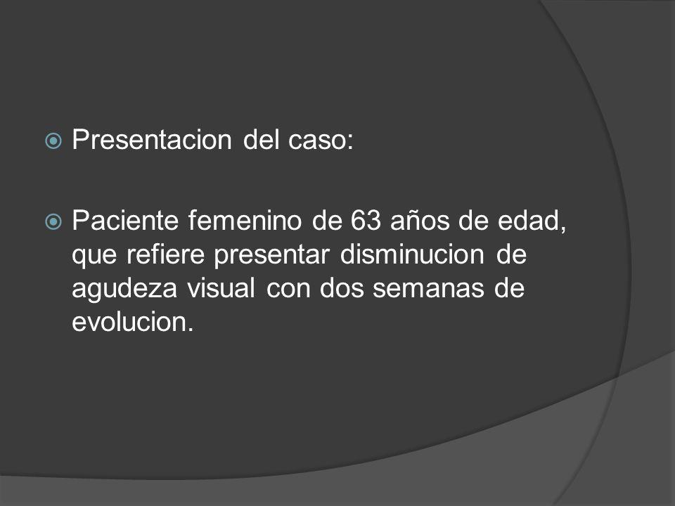 Presentacion del caso: