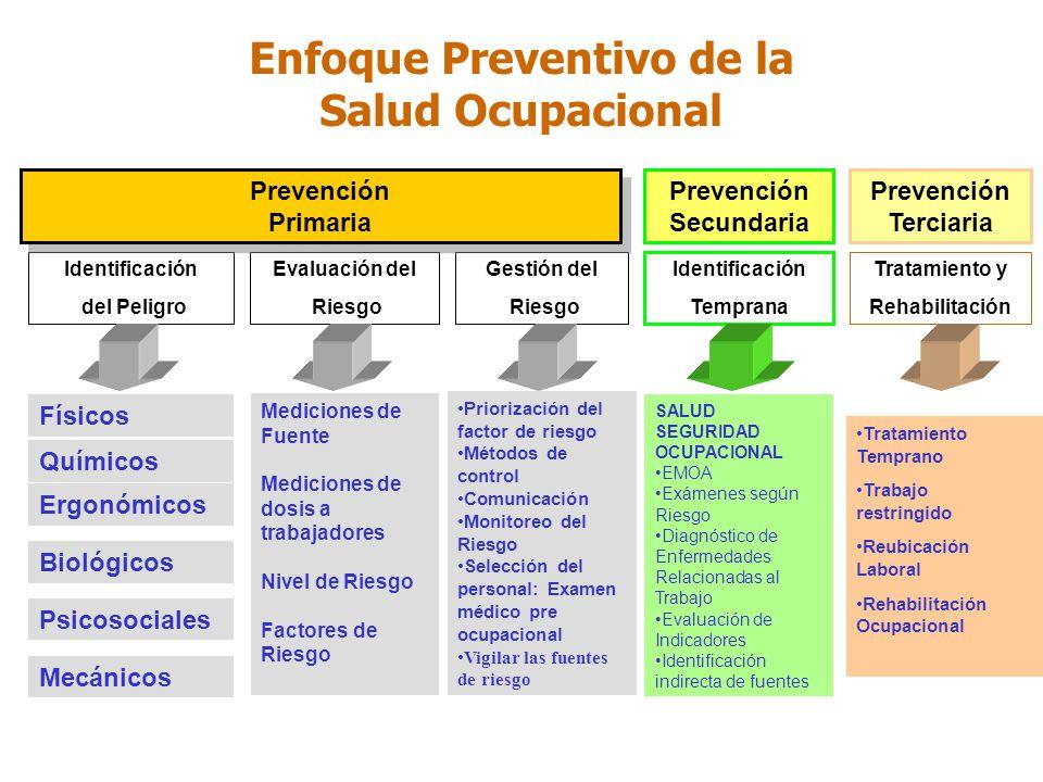 Enfoque Preventivo de la Salud Ocupacional