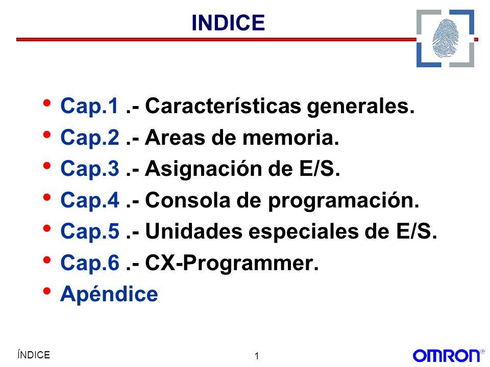 Cap.1 .- Características generales. Cap.2 .- Areas de memoria.