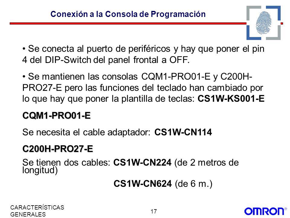 Conexión a la Consola de Programación