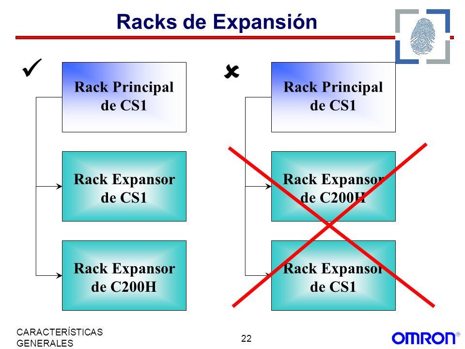  Racks de Expansión Rack Principal de CS1 Rack Principal de CS1