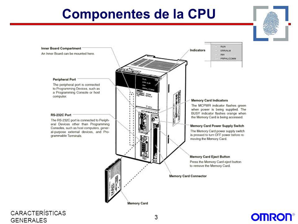 Componentes de la CPU CARACTERÍSTICAS GENERALES