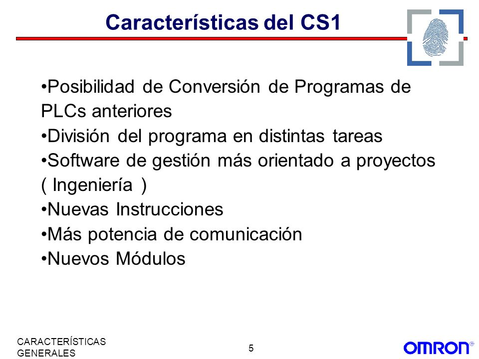 Características del CS1