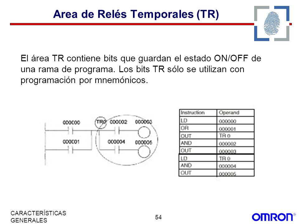 Area de Relés Temporales (TR)