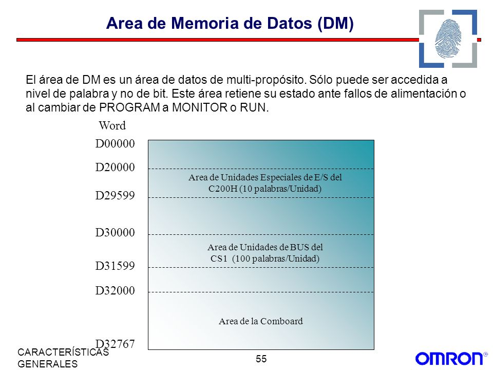 Area de Memoria de Datos (DM)