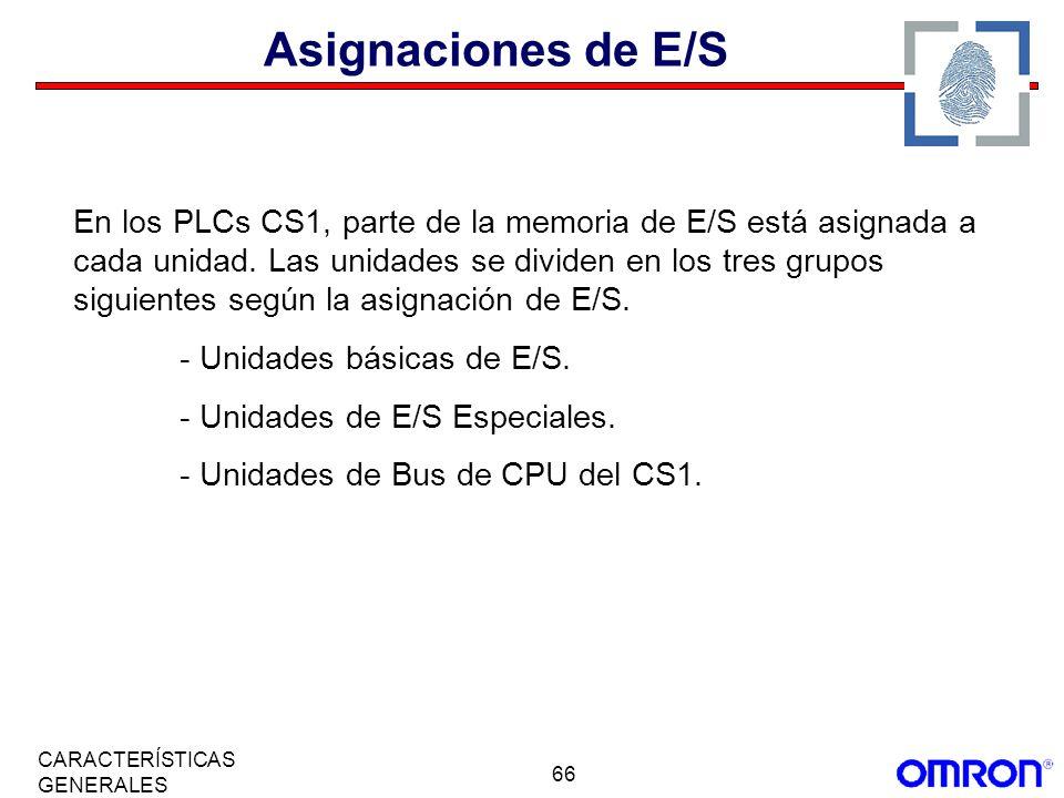 Asignaciones de E/S
