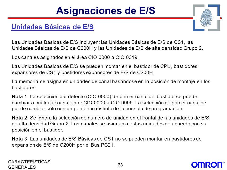 Asignaciones de E/S Unidades Básicas de E/S