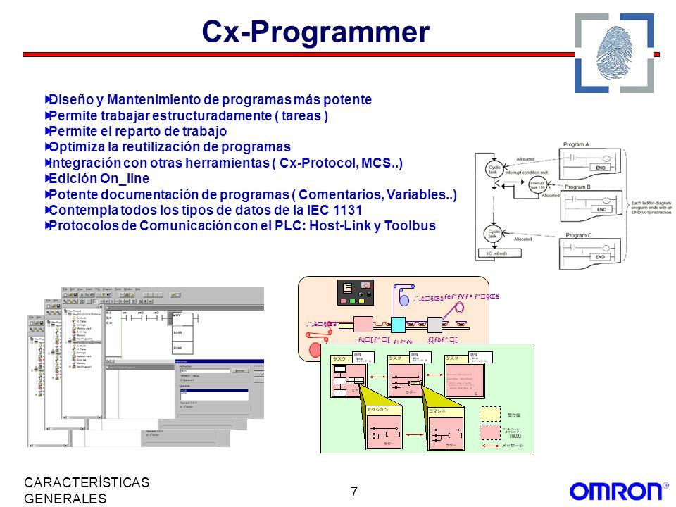 Cx-Programmer Diseño y Mantenimiento de programas más potente
