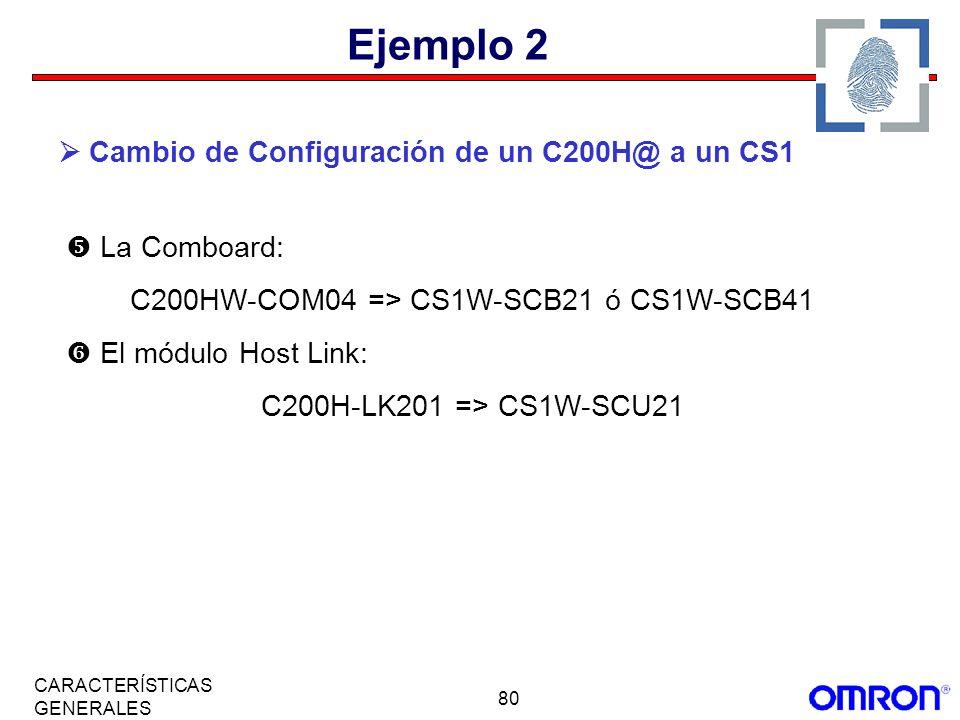 C200HW-COM04 => CS1W-SCB21 ó CS1W-SCB41