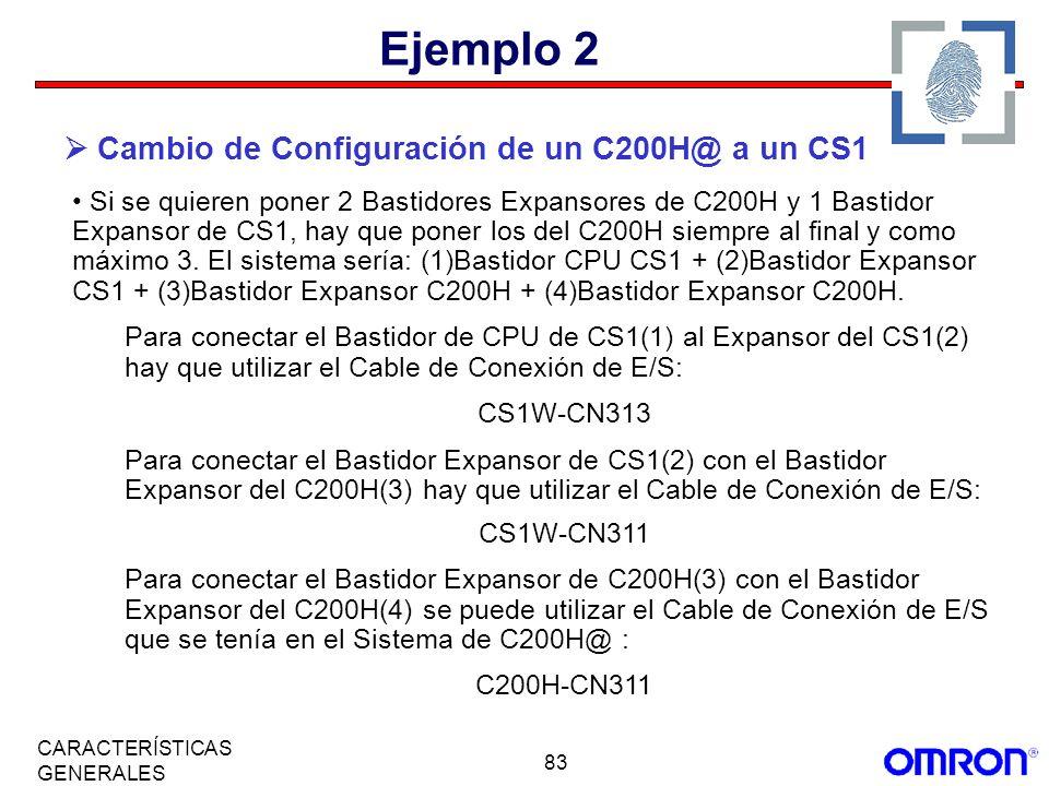 Ejemplo 2  Cambio de Configuración de un C200H@ a un CS1