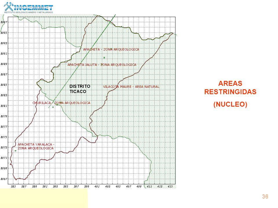 AREAS RESTRINGIDAS (NUCLEO)
