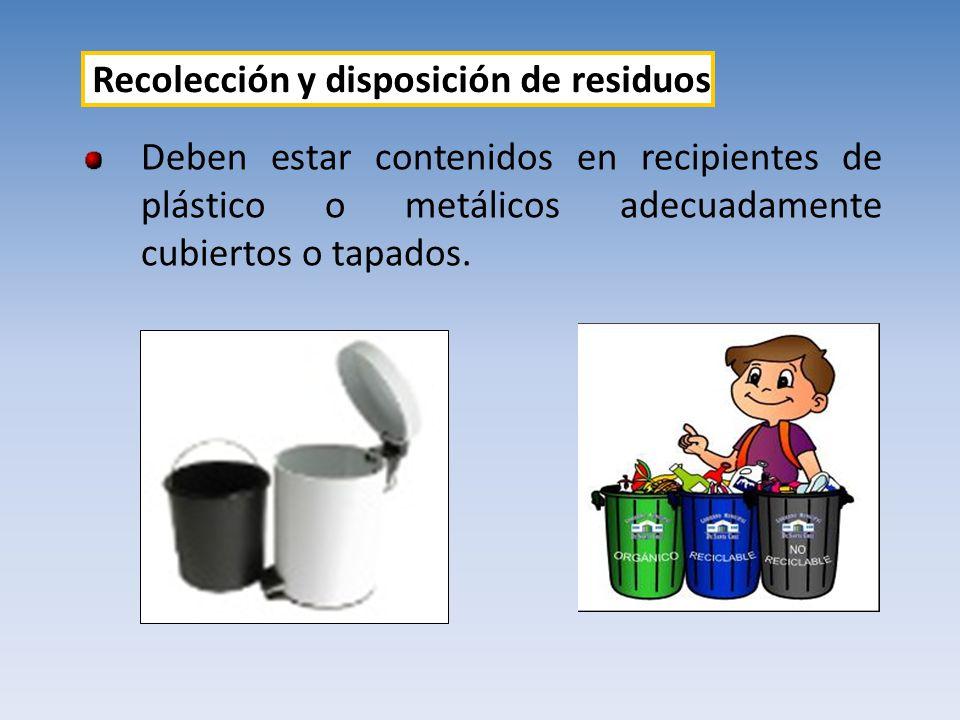 Recolección y disposición de residuos