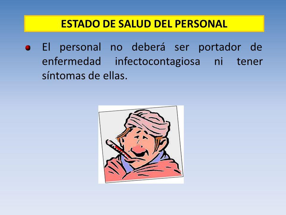 ESTADO DE SALUD DEL PERSONAL