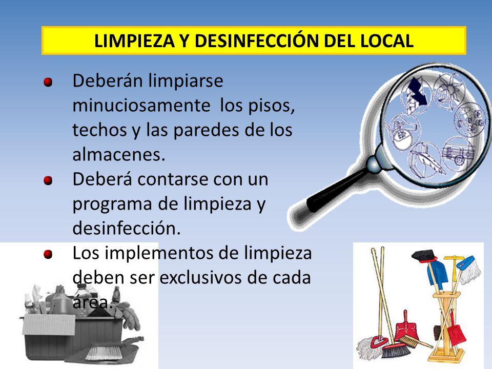 LIMPIEZA Y DESINFECCIÓN DEL LOCAL
