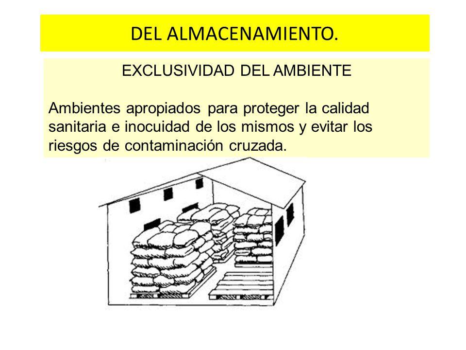 EXCLUSIVIDAD DEL AMBIENTE