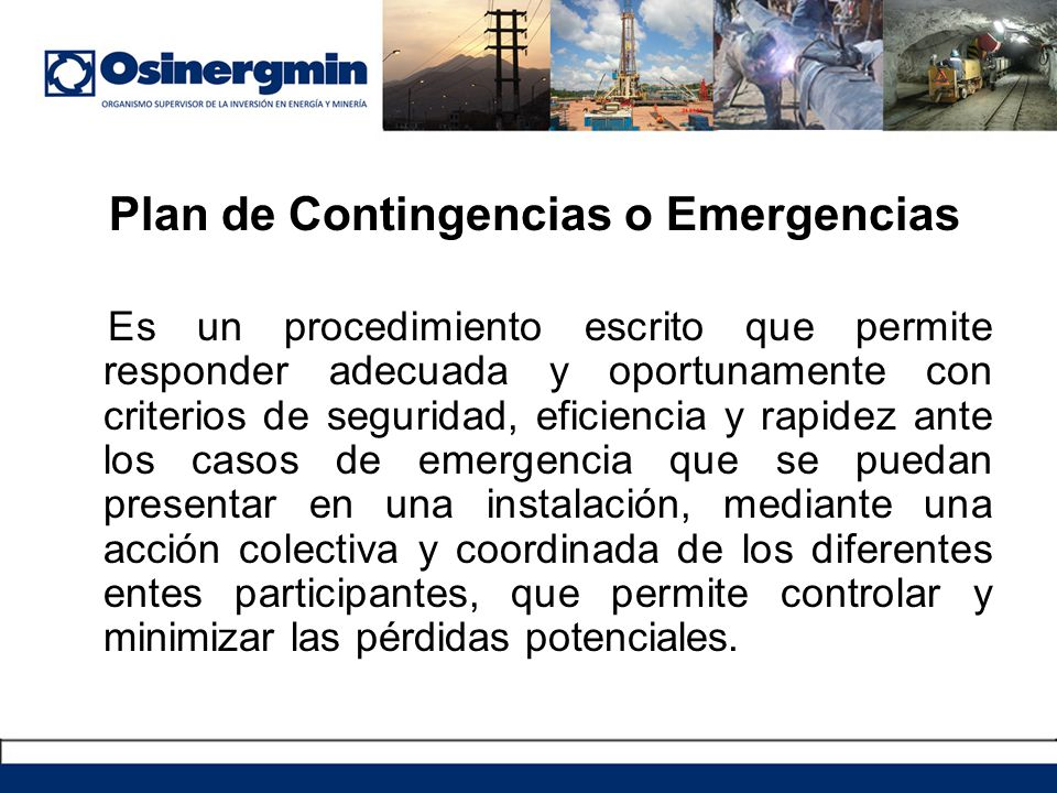 Plan de Contingencias o Emergencias