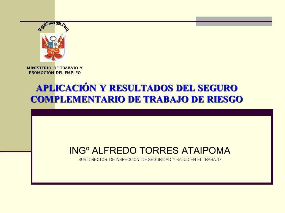 APLICACIÓN Y RESULTADOS DEL SEGURO COMPLEMENTARIO DE TRABAJO DE RIESGO