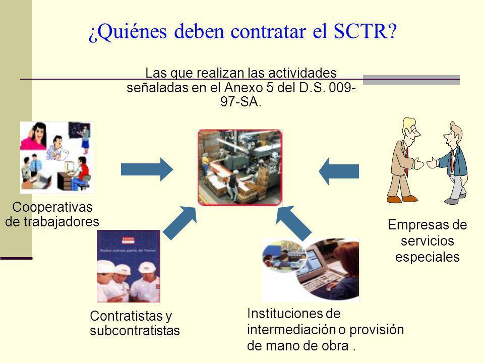 ¿Quiénes deben contratar el SCTR