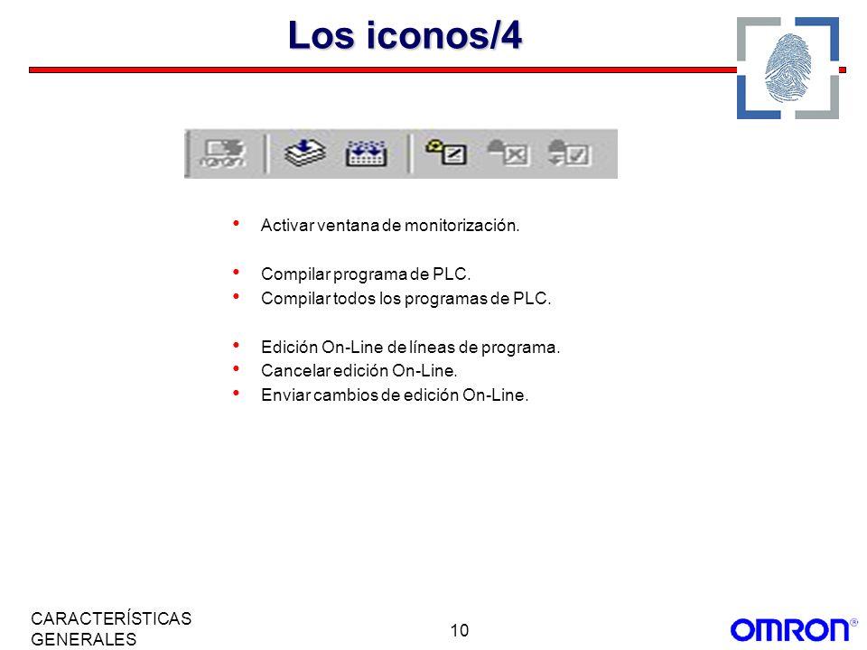 Los iconos/4 Activar ventana de monitorización.