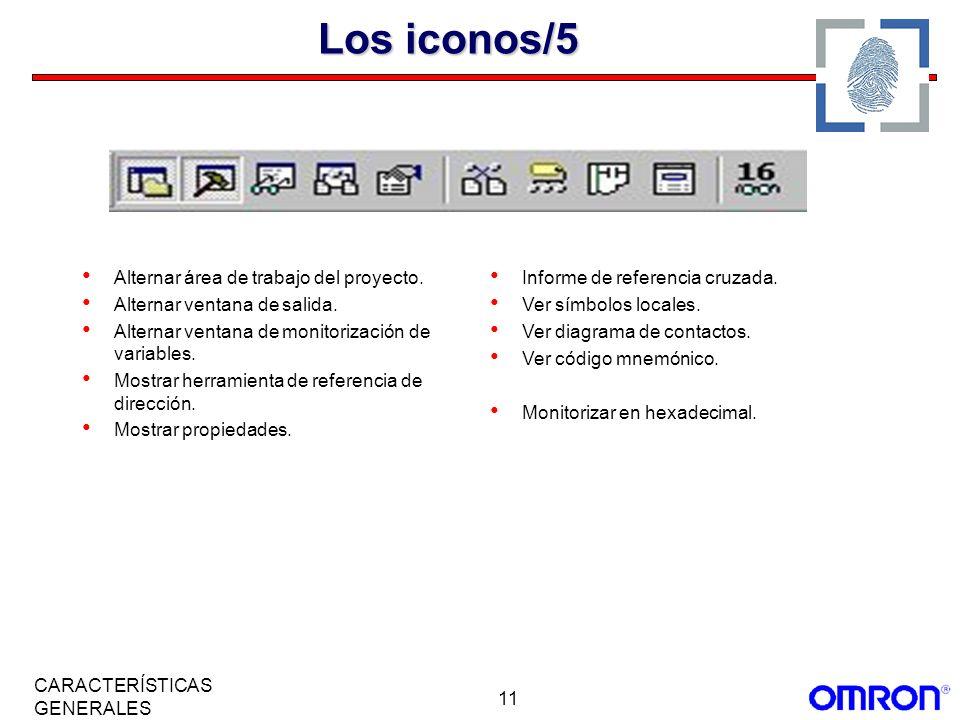 Los iconos/5 Alternar área de trabajo del proyecto.