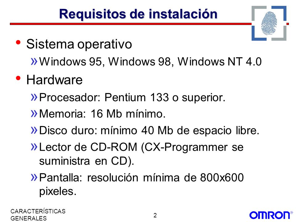 Requisitos de instalación