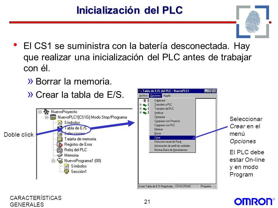 Inicialización del PLC