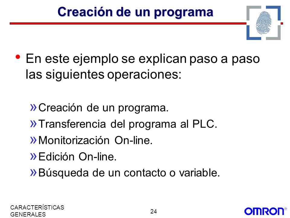 Creación de un programa