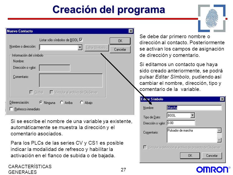 Creación del programa