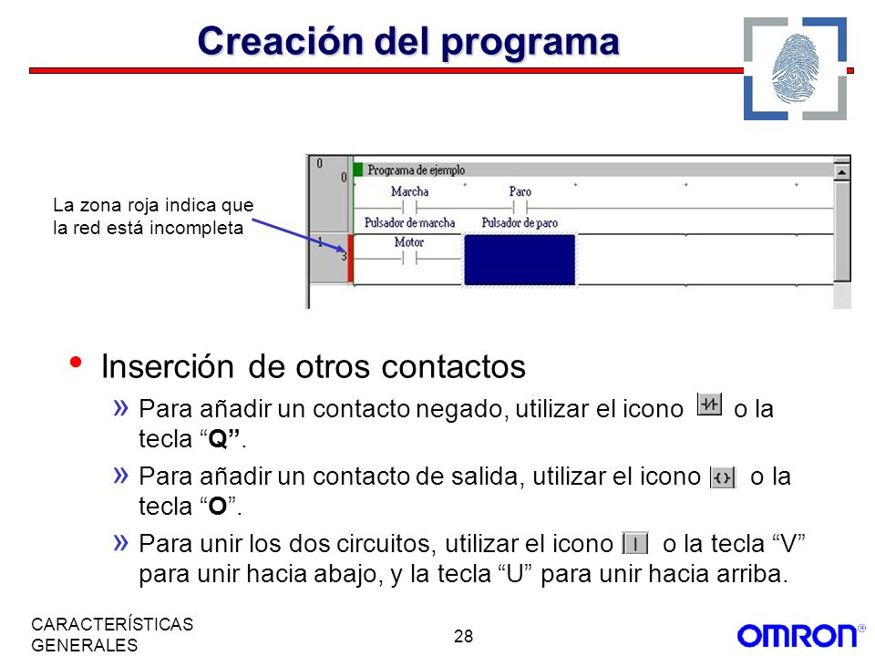 Creación del programa Inserción de otros contactos