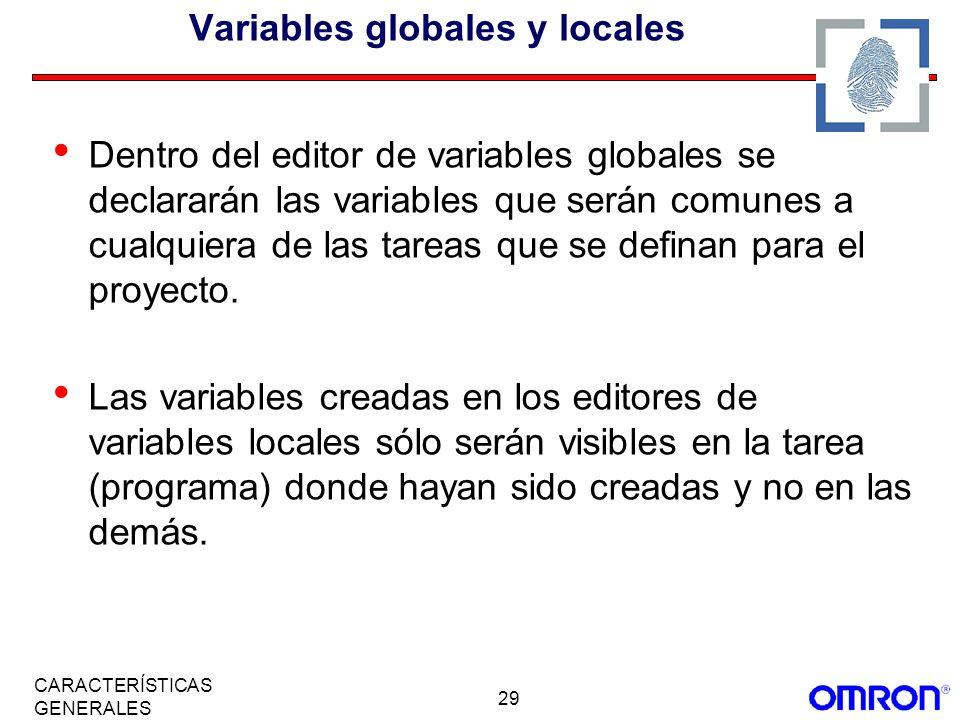 Variables globales y locales