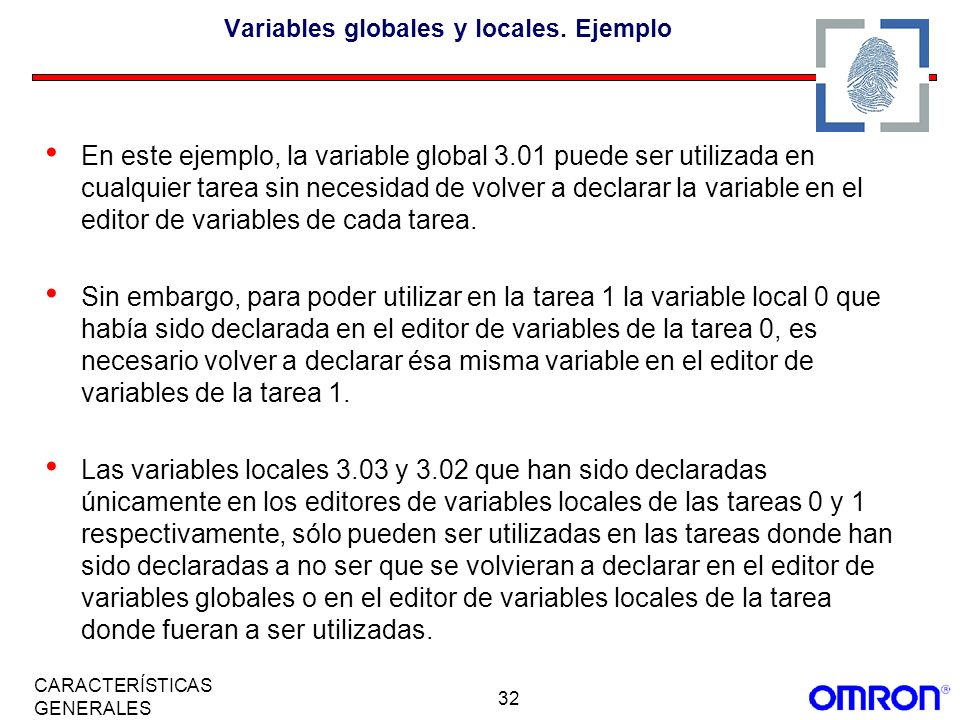Variables globales y locales. Ejemplo