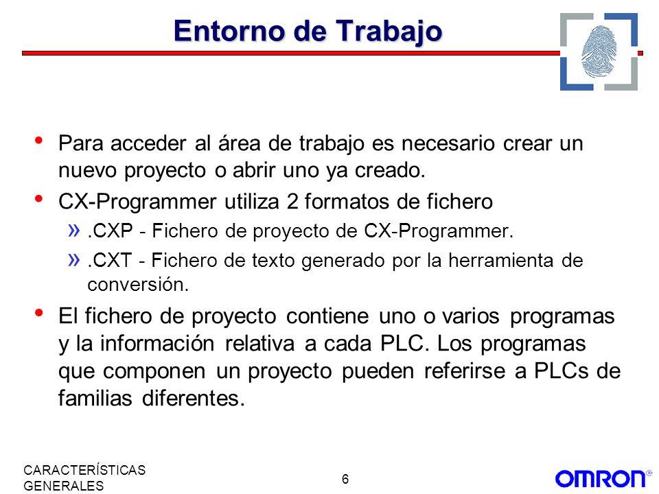 Entorno de TrabajoPara acceder al área de trabajo es necesario crear un nuevo proyecto o abrir uno ya creado.