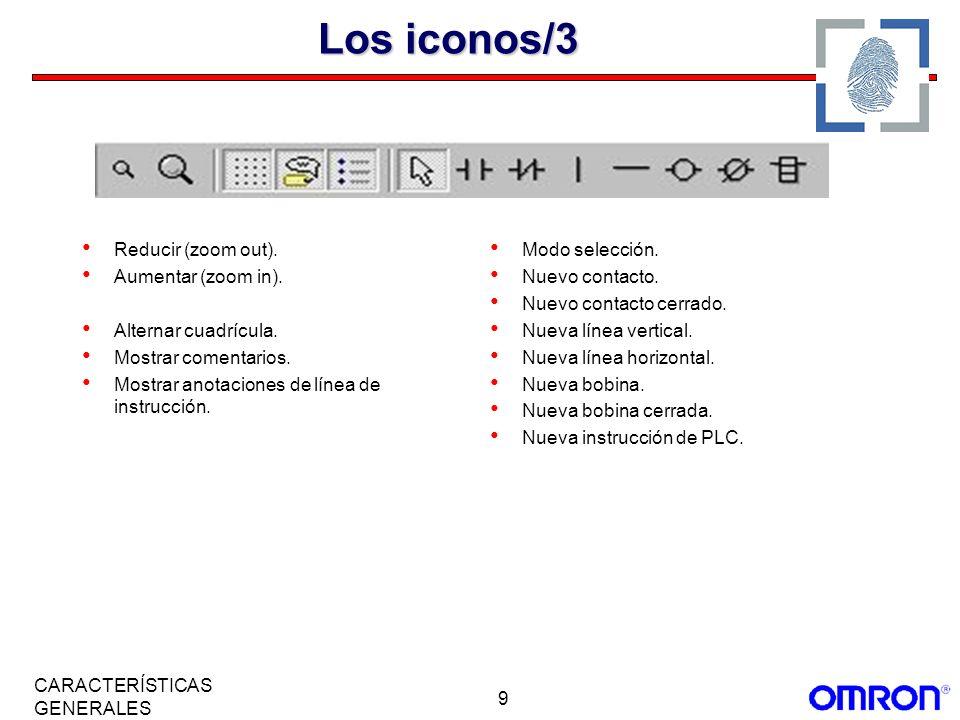 Los iconos/3 Reducir (zoom out). Aumentar (zoom in).