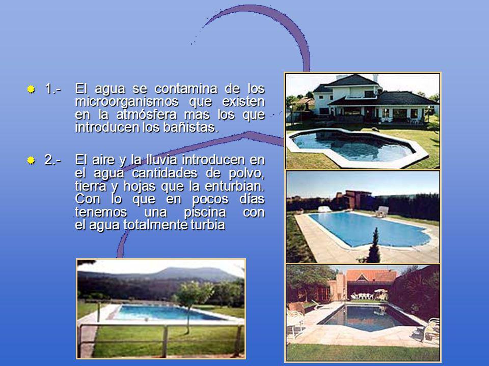 1. -. El agua se contamina de los. microorganismos que existen
