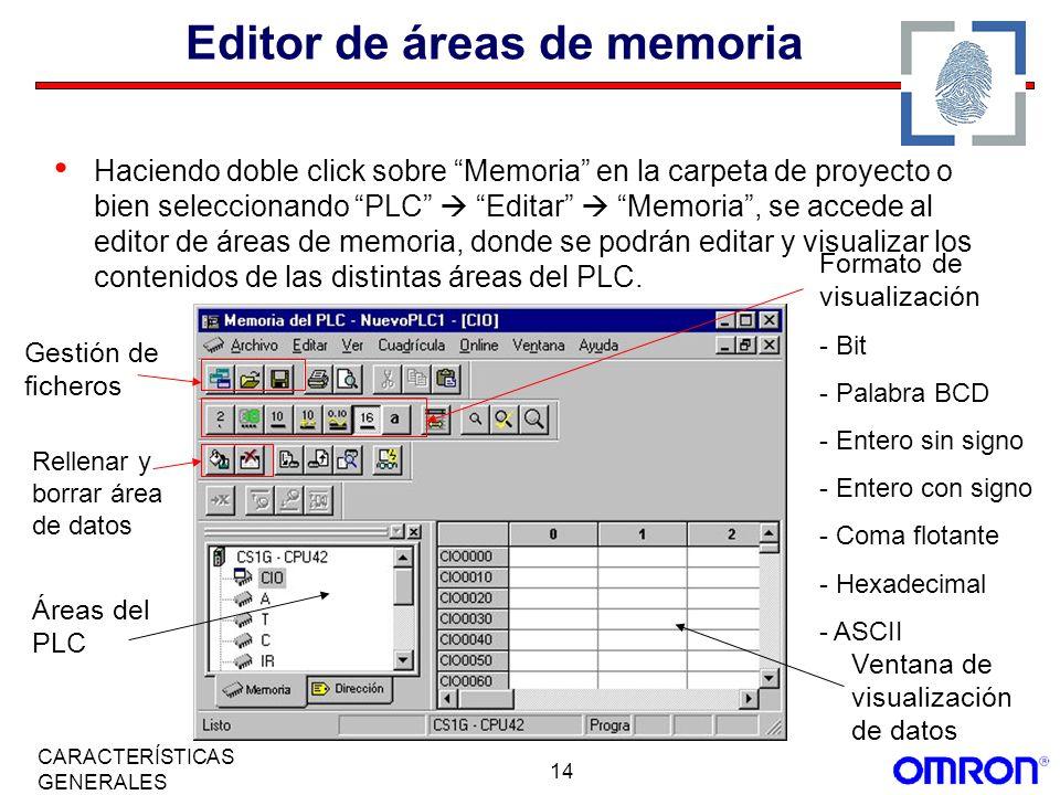 Editor de áreas de memoria