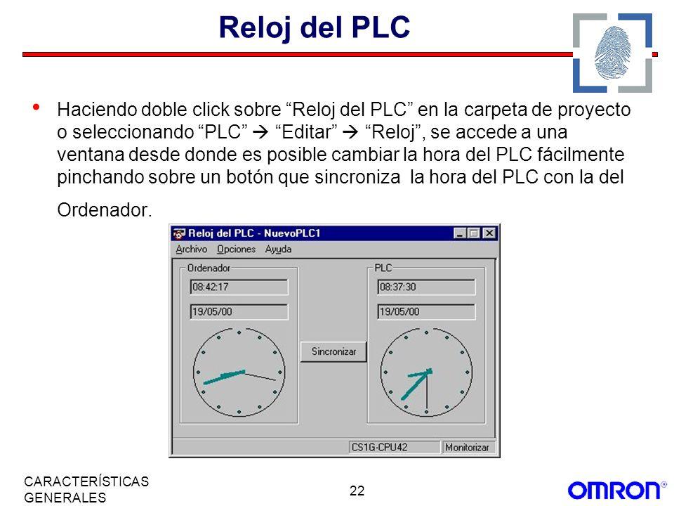 Reloj del PLC