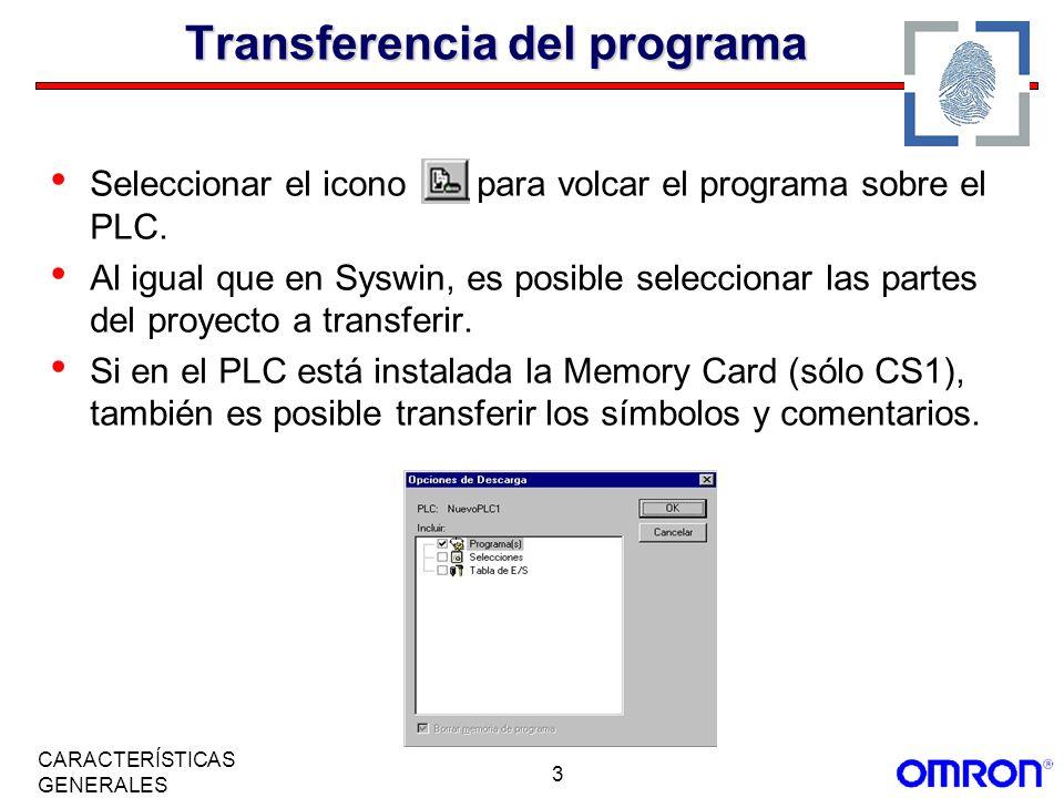Transferencia del programa